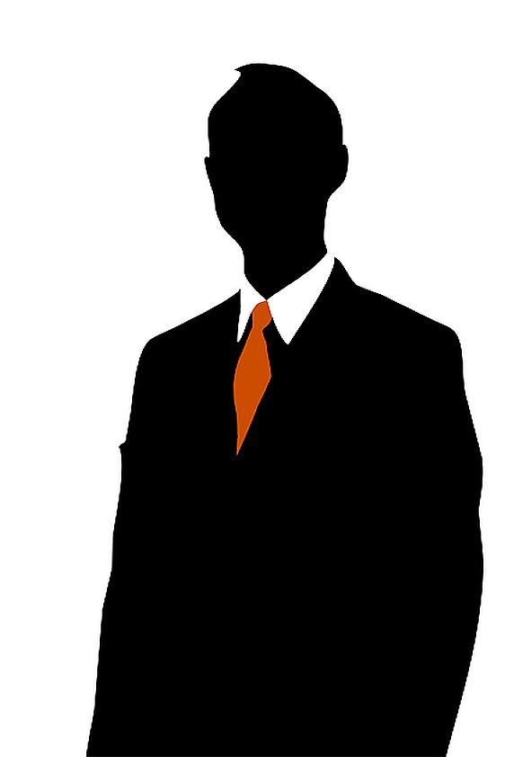 businessman silhouette crest financial services financial